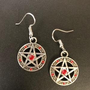 Jewelry - 3 for $25:   for Supernatural Pentagram Earrings